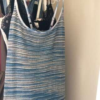 Spaghetti Strap Over Shirt Dress