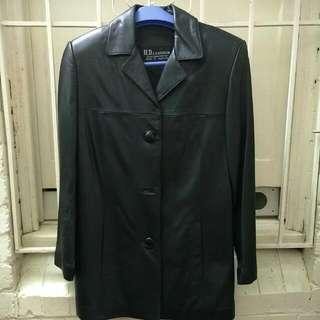 H.D.Leather Jacket Black M Or 10