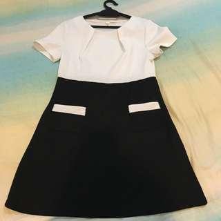 Black & white Office Dress