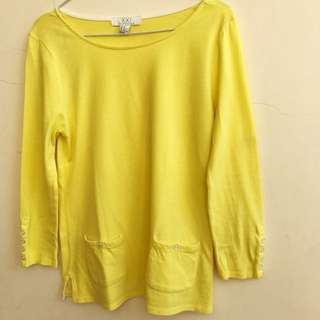 Forever 21 Yellow Long sleeve - Size M