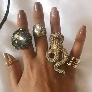 Assorted Junk Jewellery Rings ALL $2!