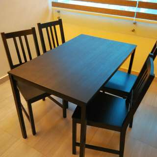 Dining Set Table With 4 Chairs IKEA