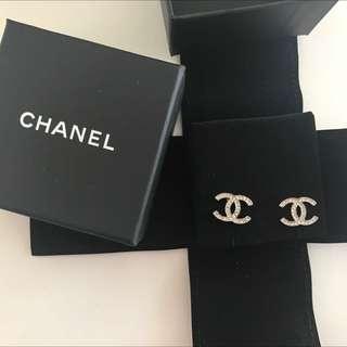 Chanel Classic Silver Earrings