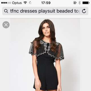 Size Small Black Playsuit Never Worn - Price Drop!!!!