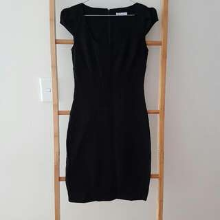 Workwear - Black Cap Sleeved Dress - Target