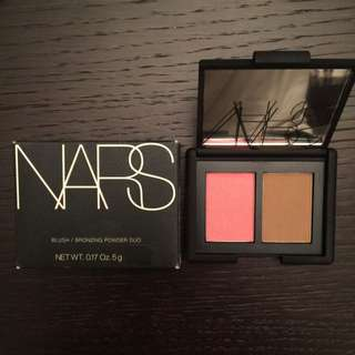 NEW NARS Blush/Bronzer Duo In Orgasm/Laguna - Travel Size
