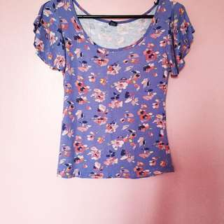 Floral Watercolor Top