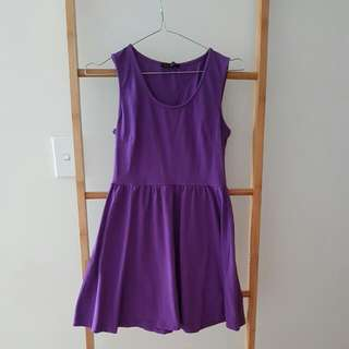 Purple Stretch Skater Dress