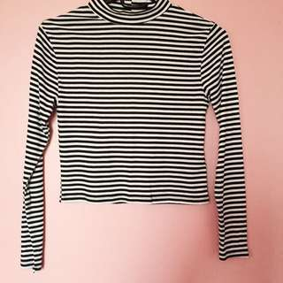 H&M Striped, Turtleneck Top
