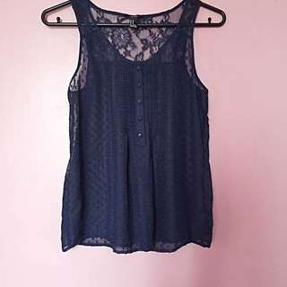 Forever21 Sheer, Lace Top