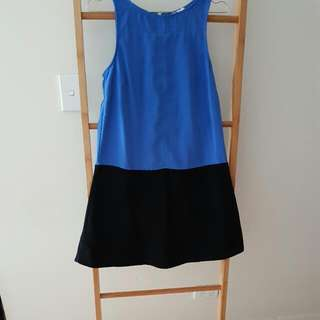 Blue And Black Block Dress