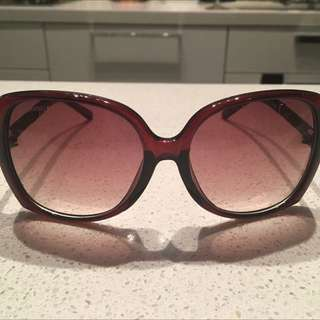 Chanel Red Sunglasses