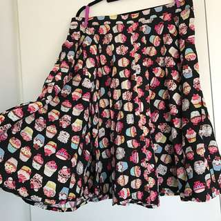 PINUP CUPCAKE CIRCLE SKIRT