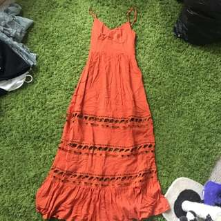 Orange Long Bohemian Dress
