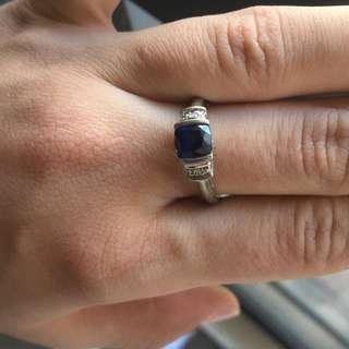 Sterling Silver Blue Saffire Ring