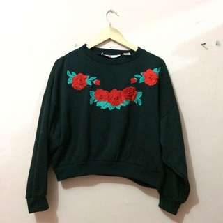 Embossed Oversized Jaket Sweater