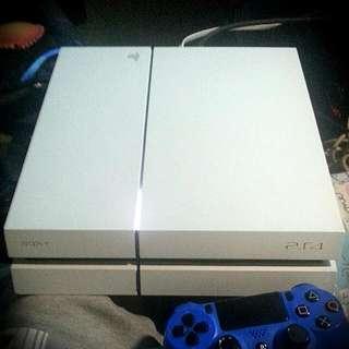 PS®4主機®500G白色®多量PSN已購遊戲