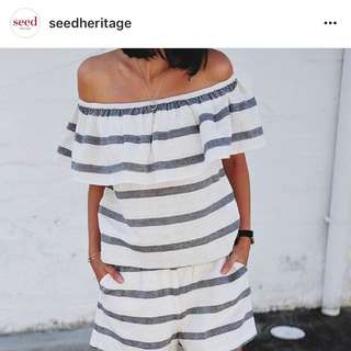 Seed Cotton Frill Top L Large