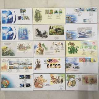 2004 & 2007 - 15 pcs Limited Edition Stamp Setem First Day Cover & Miniature First Day Cover MALAYSIA ( Sampul Surat Hari Pertama )
