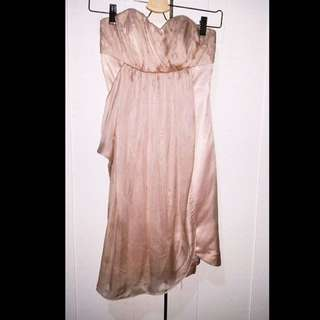 Size 8 Forever New Chiffon Strapless Dress