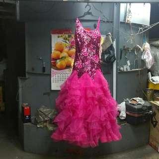 精緻手工標準舞蹈洋裝