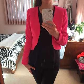 sheike pink blazer size 8