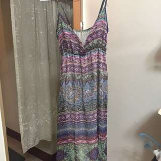 Maxi Summer Dress Silk Free Size