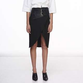 KHALO Belted Wrap Skirt