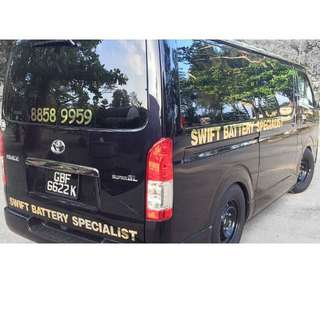 24 Hours Singapore onsite Car battery replacement And Tyre punctured repair service. Swift Battery Specialist, Call +65 8858 9959