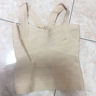 High Quality Bandage Top In Nude Brand New