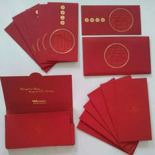 [WTS] Silky CNY Lunar New Year Red Packets/ Hong Bao. Loose Pcs. Fr Deutsche Bank N Westpac Australia. See All Pics.