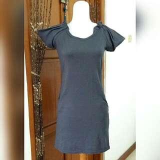 Mini Dress Abu-Abu / Long Top