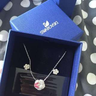 Swarovski Necklace Butterfly Set