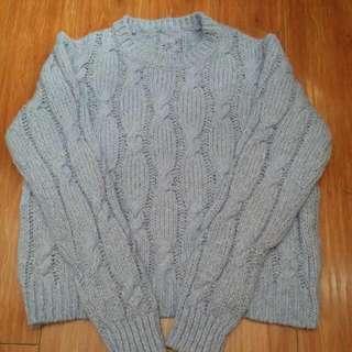 厚身 粗線 麻花 針織冷衫