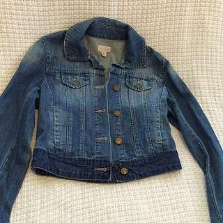 WITCHERY Denim Cropped jacket