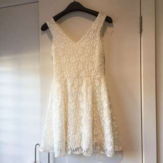 Topshop White Lacey Skater Dress