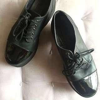 Premium Leather Platform Shoes