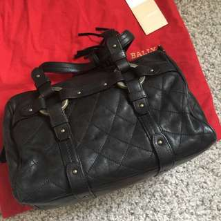 Real And Authentic Bally Handbag 👜 Bally 黑色皮手袋