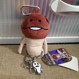 方吉菇菇鎖匙扣迷你散銀包
