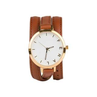 Feral brown leather wrap watch - The Jane