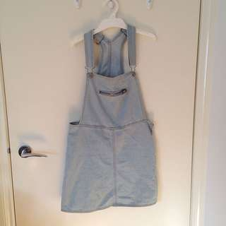 Cotton On Denim Overall Skirt