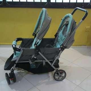 Mamalove Double Stroller