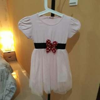 Pink Dress Size 120 (3 Tahun)