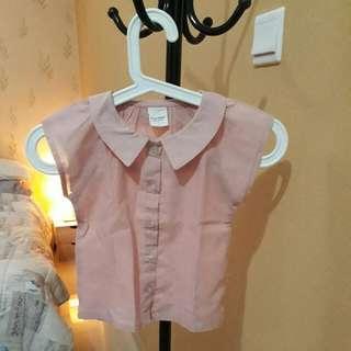 Kemeja Pink Anak Perempuan Size 4 Tahun