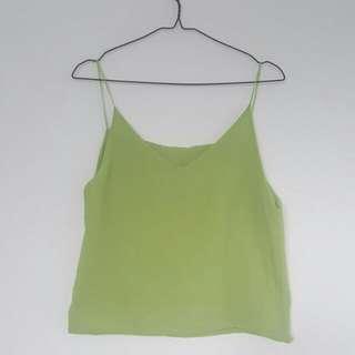 Chiffon Tank Green