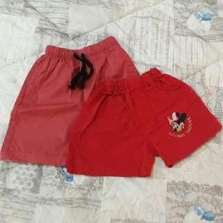 Set 2  Celana Merah Size M (Untuk Anak 3/4 Tahun)