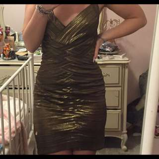 BCBG Gold Dress