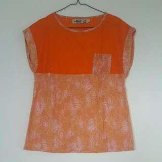 Orange Batik Shirt