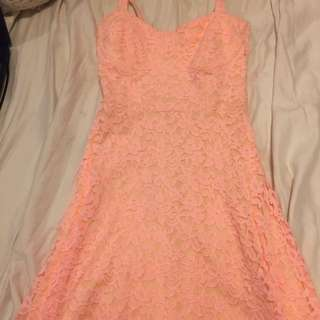 Garage Coral Lace Dress