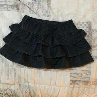 Rok Celana Warna Denim Size 2 Tahun